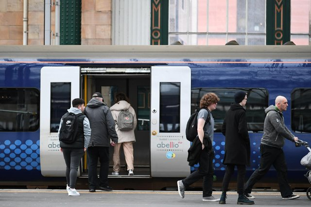 ScotRail passenger numbers fell to just 9 per cent of normal at the height of the Covid crisis. Picture: John Devlin