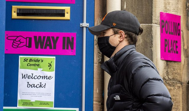 Voters turned out to vote in the Holyrood election on Thursday May 6.