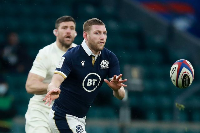 Finn Russell was singled out by England but did brilliantly well to shift the point of attack and pick the right options. Picture: David Rogers/Getty Images