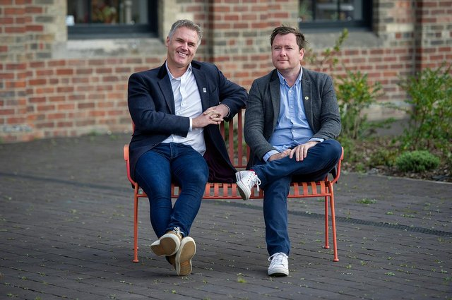 From left: Neatebox founder Gavin Neate with COO Allan Hutcheon. Picture: Peter Sandground.