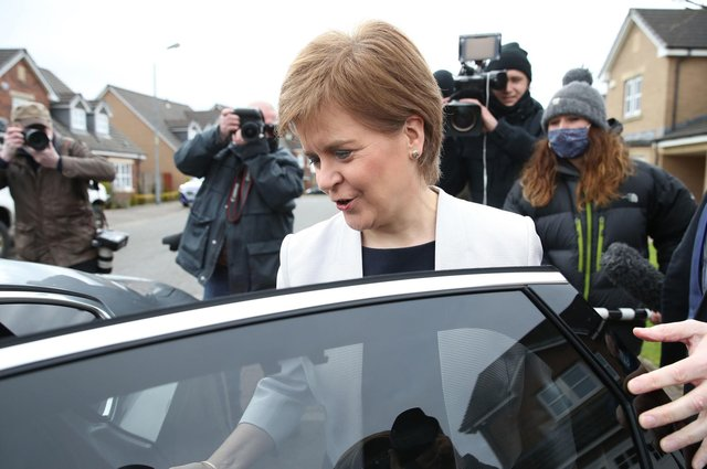 Nicola Sturgeon has been cleared of breaching the ministerial code after an investigation into whether she misled the Scottish Parliament by Irish lawyer James Hamilton (Picture: Andrew Milligan/PA Wire)