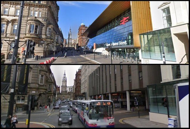 Queen Street Station before and after.
