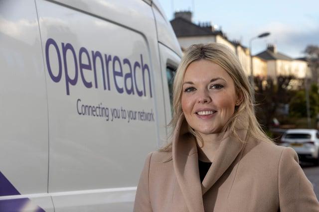 Katie Milligan, chair of Openreach Scotland. Picture: Jeff Holmes