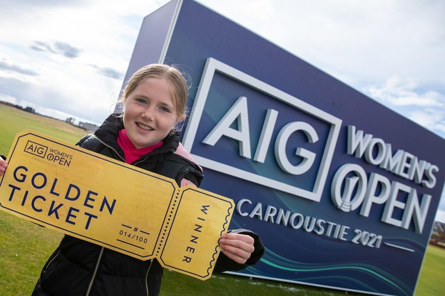 Kirsty Norrie of Carnoustie Golf Links is one of the first recipients of a golden ticket to the AIG Women's Open.  Picture: The R&A.