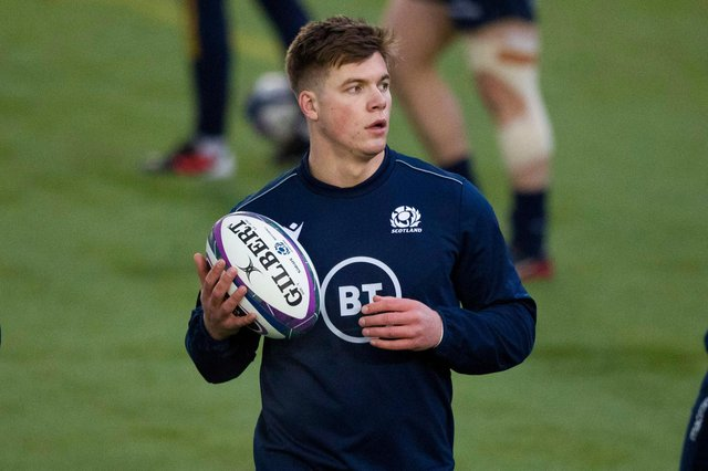 Huw Jones is back in the Scotland squad and keen to have 'another moment'. Picture: Craig Williamson/SNS