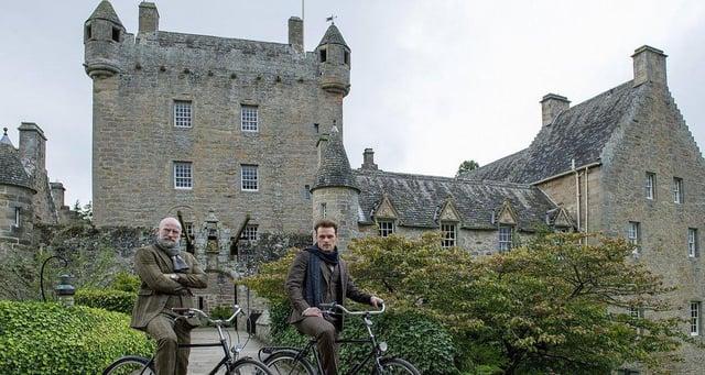 Sam Heughan and Graham McTavish at Cawdor Castle PIC: Peter Sandground
