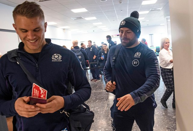 Scotland's Chris Harris (left) and Rory Sutherland are in the Lions squad