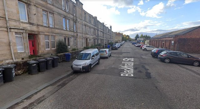 64-year-old Ann Walker was found dead at her flat0/3, 20 Blackhall Street, Paisley on March 25 (Photo: Google Maps).