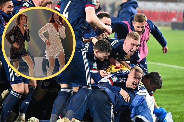 The disco hit clinched a spot in the top 3 of the UK charts after a video of the victorious Scotland football team dancing to it went viral.