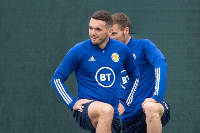 John McGinn has resumed Scotland training after missing the Denmark clash with Covid-19. (Photo by Paul Devlin / SNS Group)