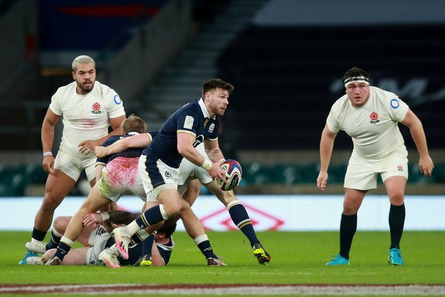 Ali Price in action against England during Scotland's 11-6 win at Twickenham. Picture: David Rogers/Getty Images