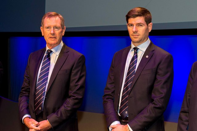 Former Rangers chairman Dave King with manager Steven Gerrard.