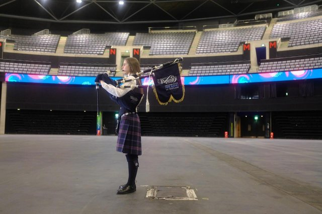 Piper Hazel Whyte is the first musician to perform at the Hydro arena in Glasgow since the venue was closed to the public last March.