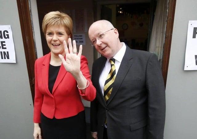 First Minister Nicola Sturgeon and husband Peter Murrell.