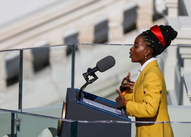Amanda Gorman delighted Joe Biden's inauguration audience with her poem The Hill We Climb (Getty Images)