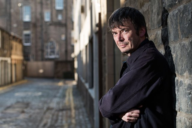 Ian Rankin reveals his love of comic books and says they are an affordable 'gateway drug' to reading and storytelling (Photo: Ian Georgeson).