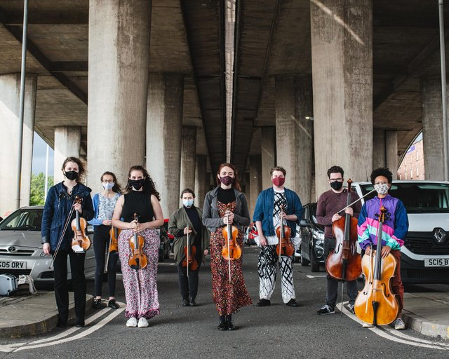 Musicians from the Royal Conservatoire of Scotland worked on the new 'Under the Bridge' film. Picture: Lateral North