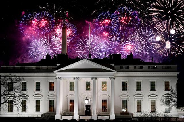 Fireworks above the White House mark Joe Biden's inauguration