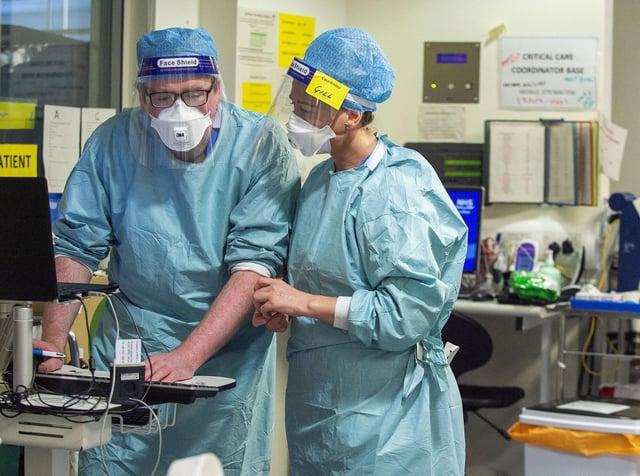 Inside the Covid ICU unit at the Edinburgh Royal Infirmary
