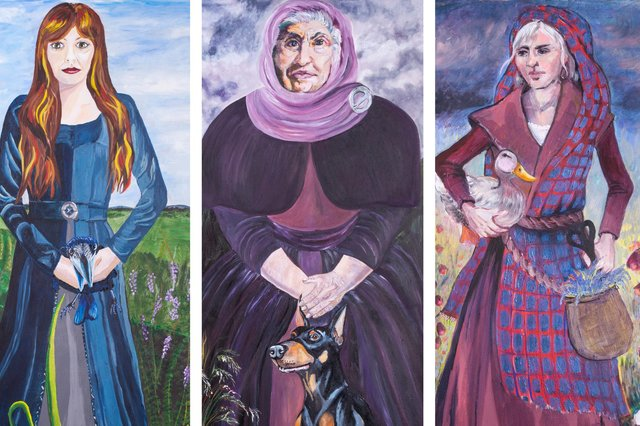 Portraits depicting women executed for witchcraft in Dalkeith were unveiled in the Midlothian town last year. Picture: Dalkeith Arts