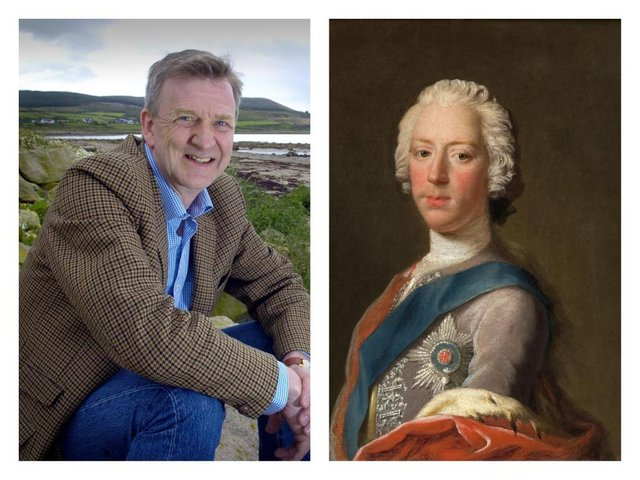 Peter Pininski (left), a direct descendant of Prince Charles Edward Stuart (right) who willl take part in the commemoration for the 275th anniversary of the Battle of Culloden today.