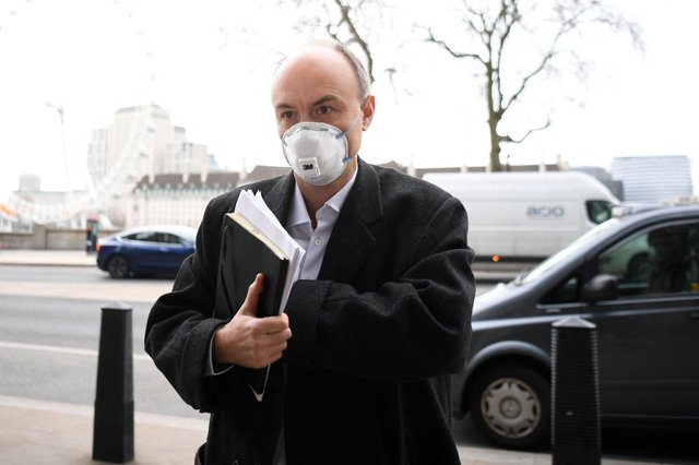 Former Number 10 special advisor Dominic Cummings arrives at Portcullis house for a committee hearing in central London. Picture: Daniel Leal-Olivas/AFP via Getty Images