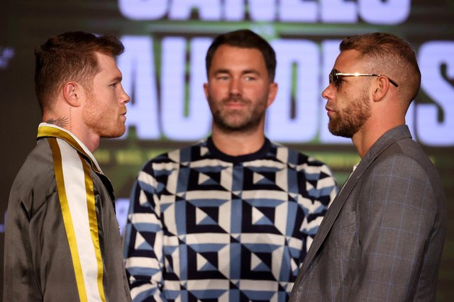 The eagerly-anticipated boxing bout between Saul Canelo Alvarez (L) and Billy Joe Saunders (R) is set to take place in front of a worldwide audience. (Pic: Getty)