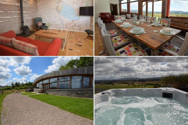 The Leven Earthship is perfect for a get-together with family and friends.