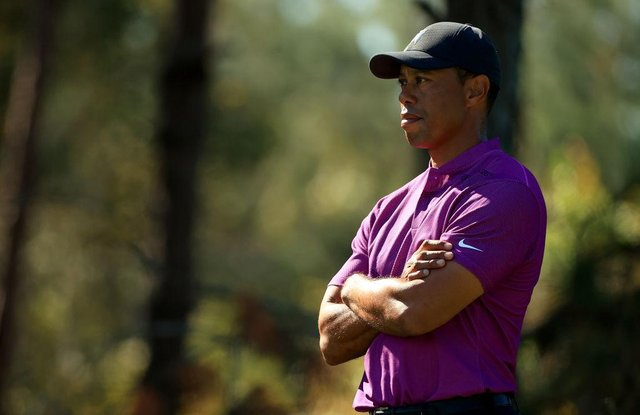 Tiger Woods pictured during the PNC Championship at the Ritz Carlton Golf Club in Orlando, Florida, in December. Picture: Mike Ehrmann/Getty Images.