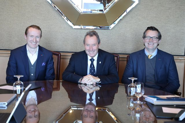 From left: Andrew, Neil and Michael Donaldson. Picture: contributed.