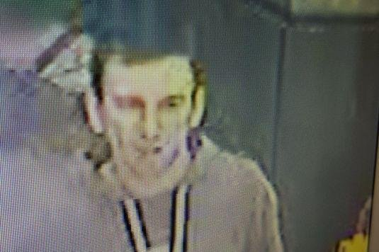 This man is being sought in connection with the assault. Picture: British Transport Police