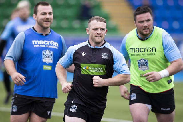 Nick Grigg, centre, is looking forward to the Rainbow Cup. Picture: Craig Williamson/SNS