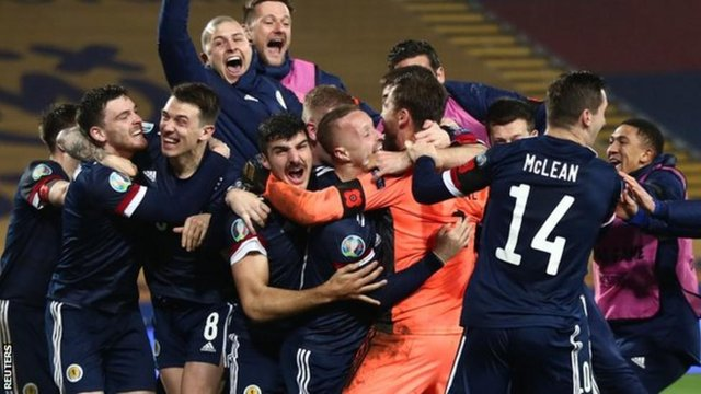 The Scotland squad earned their place in the Euros after a 23 year wait (Picture: Reuters)