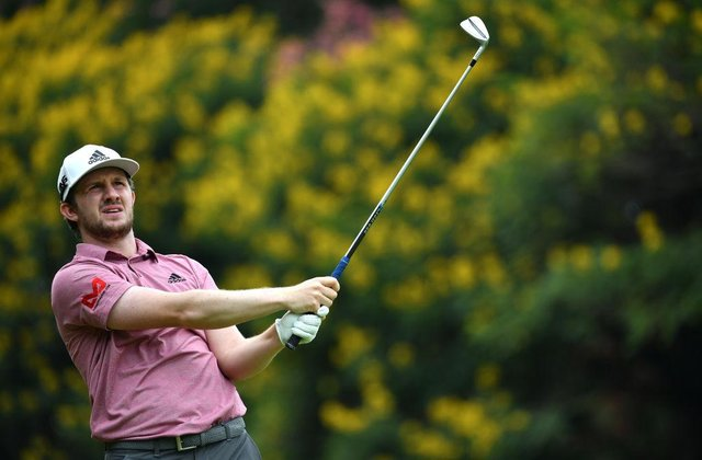 Connor Syme in action during the final round of the Magical Kenya Open at Karen Country Club in Nairobi. Picture: Stuart Franklin/Getty Images.