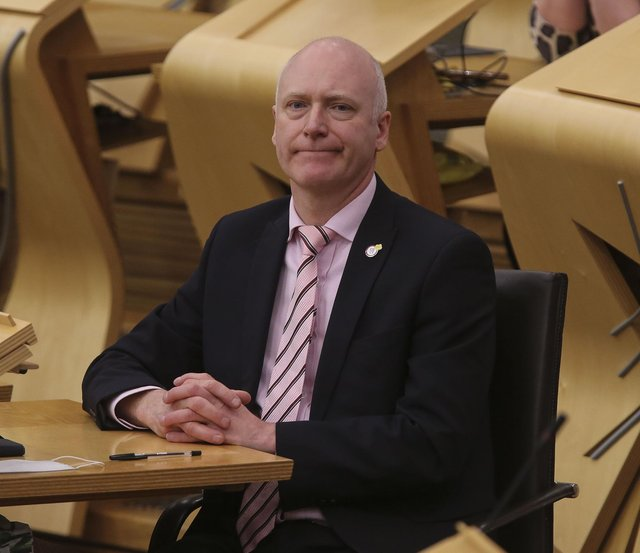 Joe Fitzpatrick attending First Minister's Questions at the Scottish Parliament. Picture: Fraser Bremner/Daily Mail/PA Wire