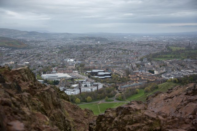 A view of Edinburgh, where there is no shortage of famous landmarks. How many can you spot?