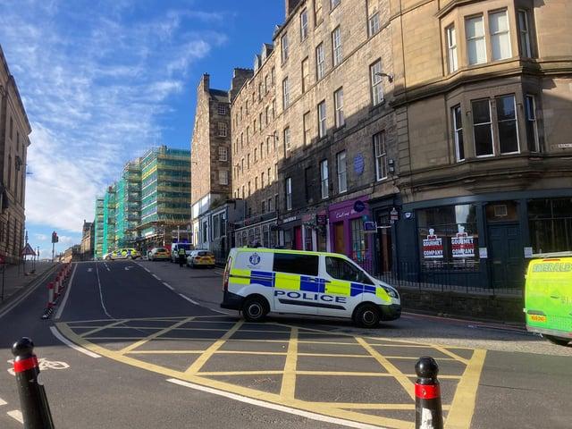Police presence on Bank Street following the incident (Photo: Matt Donlan)