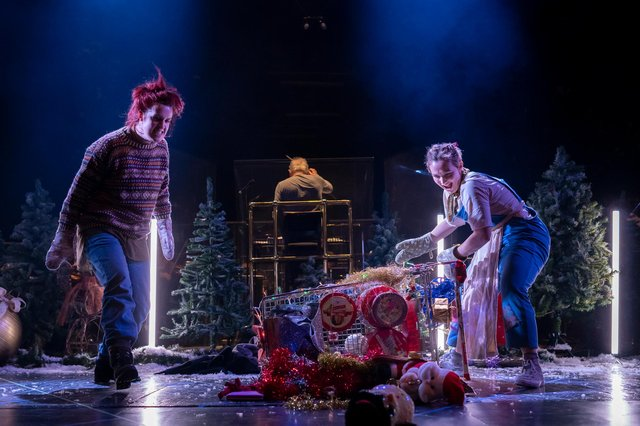 Kitty Whately (Hansel) and Rhian Lois (Gretel) in Scottish Opera's Hansel and Gretel PIC: James Glossop