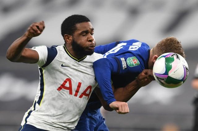 Tottenham Hotspur defender Japhet Tanganga is a transfer deadline day target for Celtic (Photo by NEIL HALL/AFP via Getty Images)