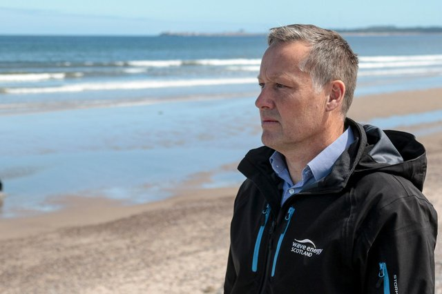 Tim Hurst, managing director of WES: 'This programme will develop technology that will reduce the cost of wave and tidal energy and ultimately help marine energy play a part in Scotland's net-zero future.' Picture: Marc Hindley