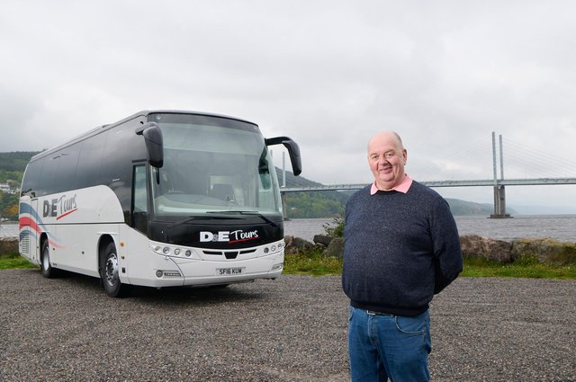 Donald Mathieson, owner of D&E Coaches, which is launching the new tour service. Picture: Ewen Weatherspoon