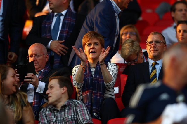 Nicola Sturgeon, pictured in 2017, likes a bit of sporting competition (Picture: Dean Mouhtaropoulos/Getty Images)