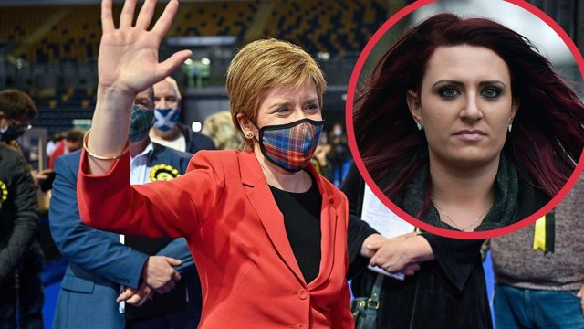 Nicola Sturgeon said that her constituency had shown that 'racists and fascistsare not welcome',  pointing out that Britain First depute leader Jayda Fransen only gained 46 votes in Glasgow Southside (Photo: Getty Images).