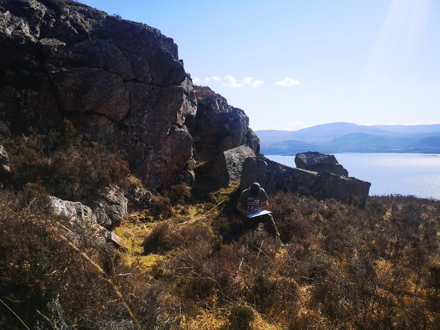 The site of the illegal still at Laggiedubh near Applecross, Wester Ross, which was found using a 19th Century account of an exciseman's raid. PIC: NTS.