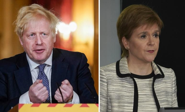 Nicola Sturgeon condemns Boris Johnson's 'disgraceful' comment claiming there is no Scottish border