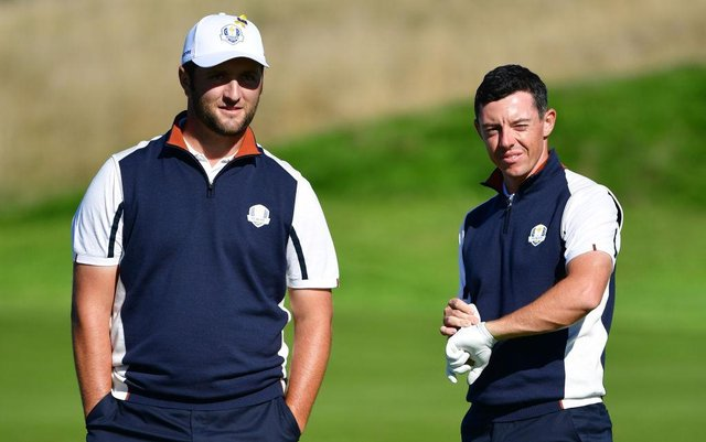 Ryder Cup team-mates Jon Rahm and Rory McIlroy are the star attractions in the strongest-ever field for the abrdn Scottish Open at The Renaissance Club this week. Picture: Stuart Franklin/Getty Images.