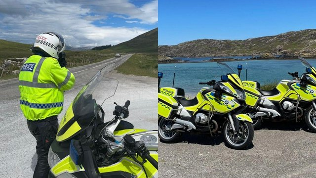 Highlands and Islands Road Policing Unit recorded over 60 offences on the North Coast 500 over the weekend (Photo: Police Scotland).