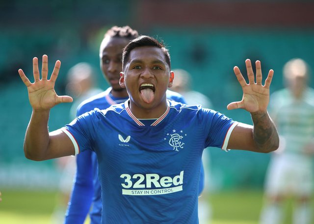 32red have been Rangers shirt sponsors since 2014.  (Photo by Ian MacNicol/Getty Images)
