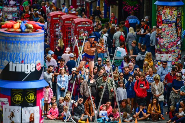 Edinburgh's Royal Mile is normally thronged with festival crowds in August.