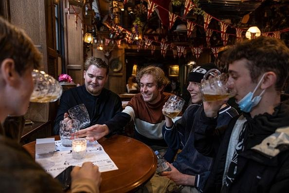 The reopening of pubs helped boost confidence across the services sector. Picture: Getty Images.